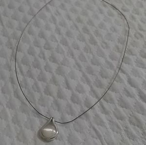 Women's Express Faux Pearl Pendant Wire Necklace